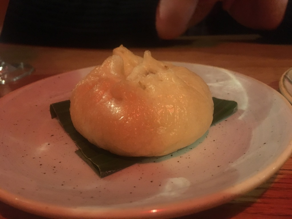 Mushroom and miso bao, Edit on Cheltenham Road, Bristol